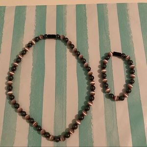 Magnetic Multi - Colored Necklace and Bracelet